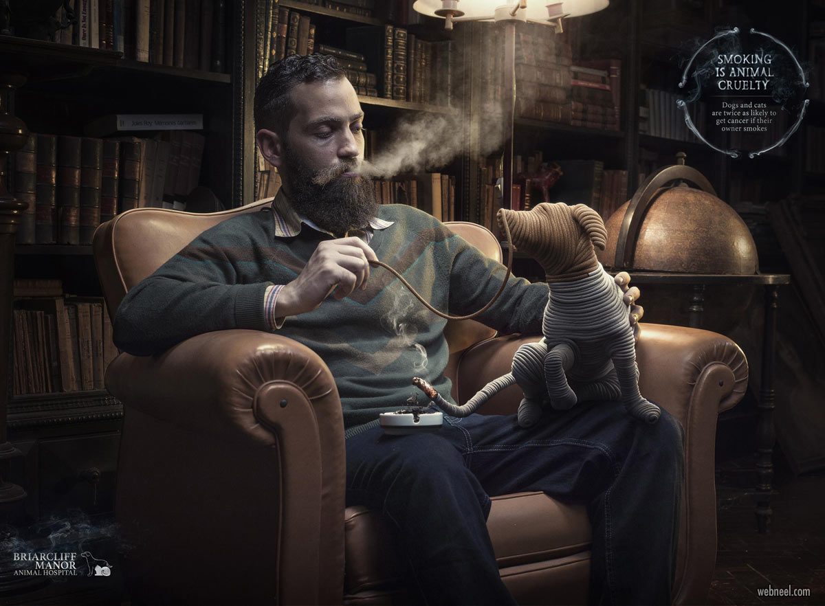 anti smoking advertisement poster animal