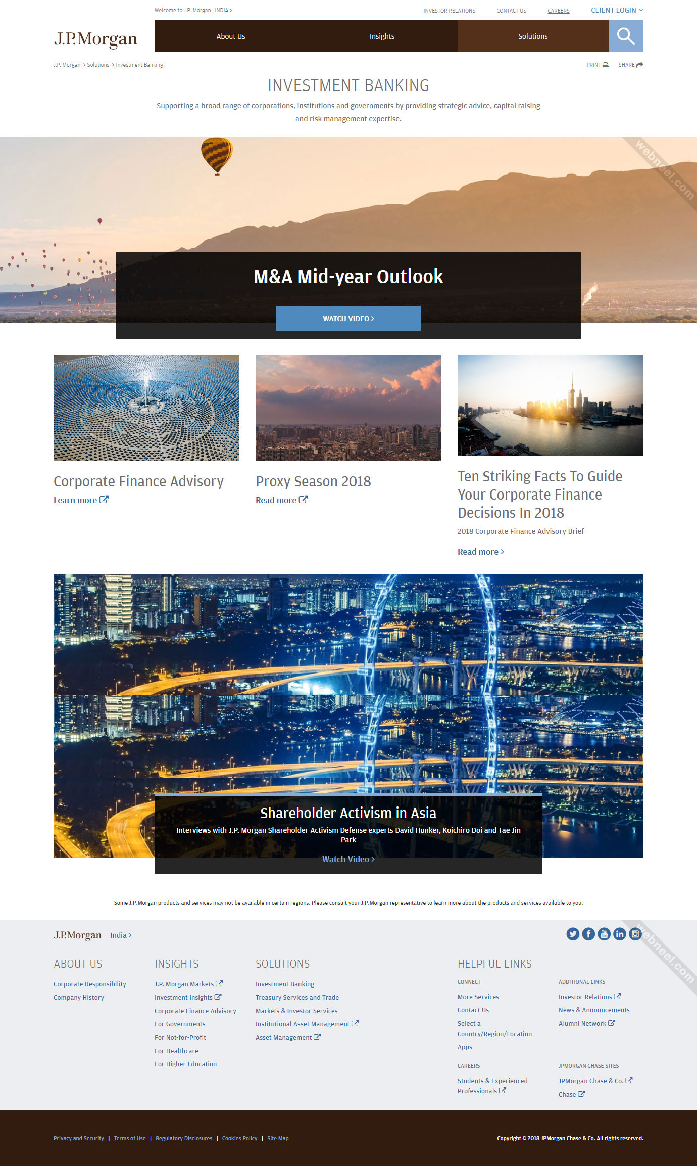 corporate website design jpmorgan