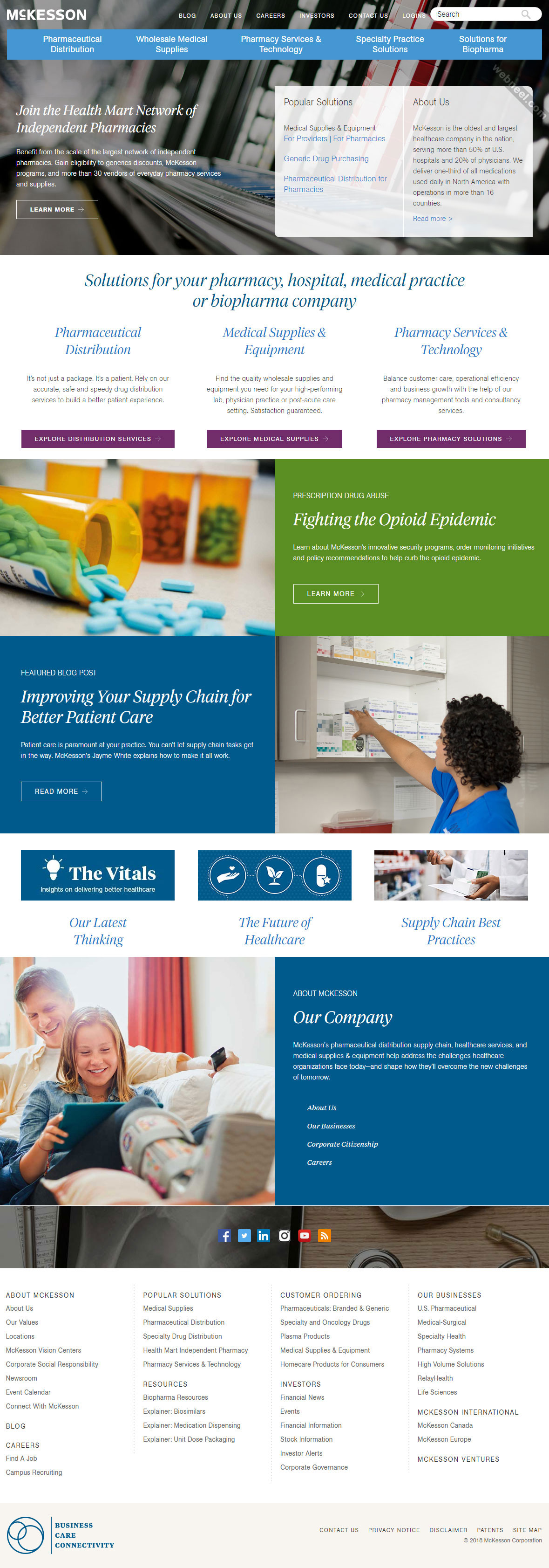 corporate website design mckesson