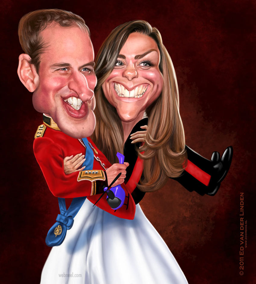 kate middleton celebrity caricature drawing