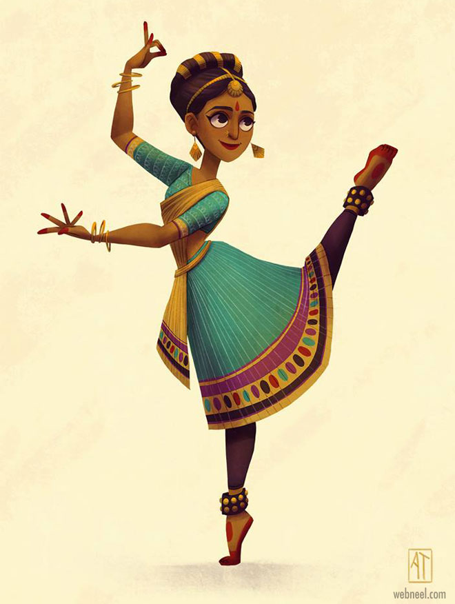 character design dancer indian by alyssatallent