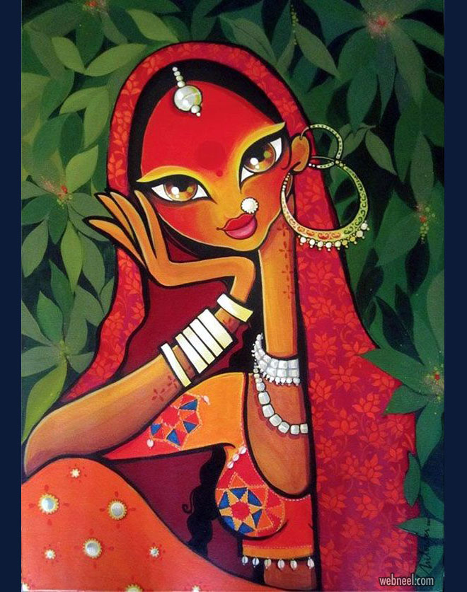 indian painting rajasthani by nilouferwadia