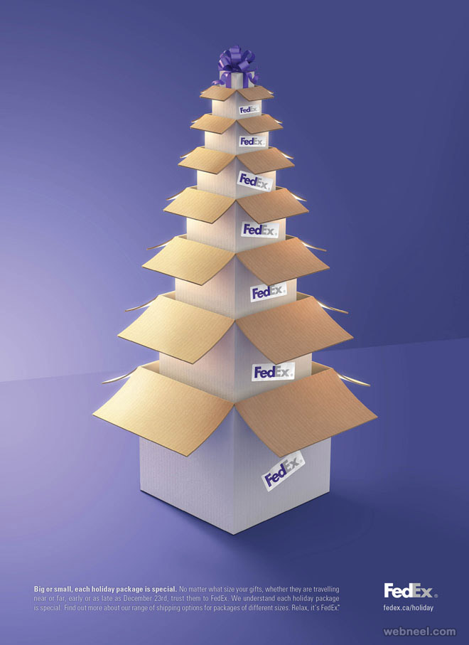 christmas ads fedex holiday print