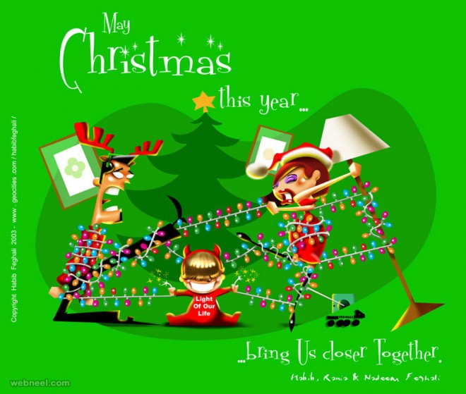 Fine 35 Beautiful Christmas Greeting Card Designs And Graphic Resources Easy Diy Christmas Decorations Tissureus
