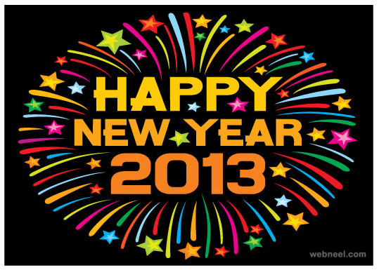 2013 new year greeting card free download resources template