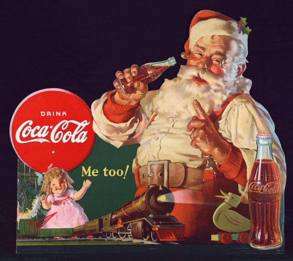 vintage christmas ads coca cola santa claus