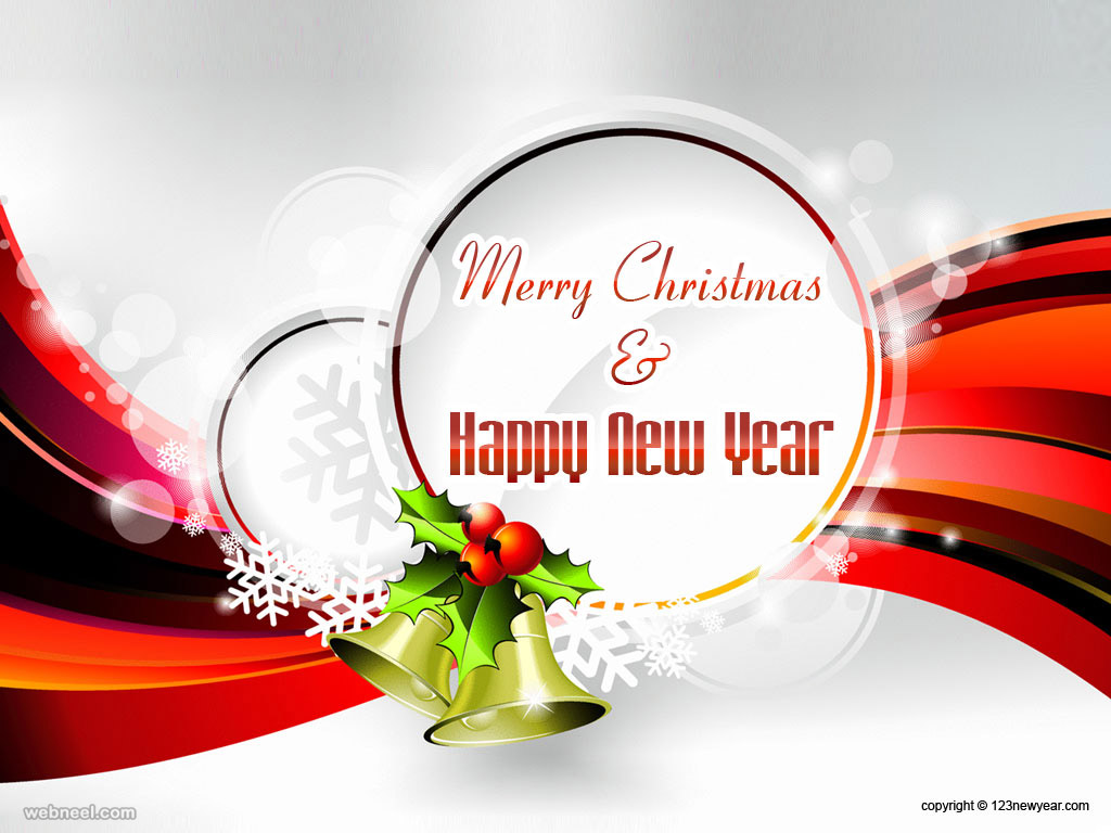 christmas and new year bell wallpaper 3