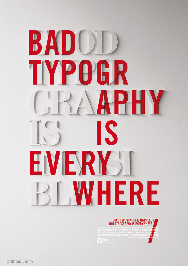 50 creative typography designs and illustration ideas for you for Bad in design