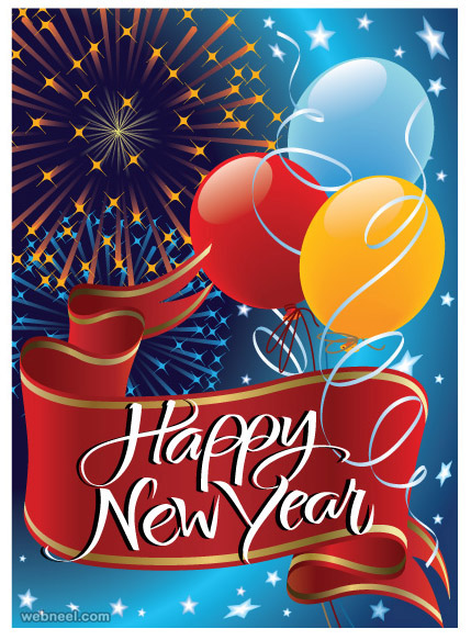 beauiful  new year greeting card designs for your inspiration, Greeting card