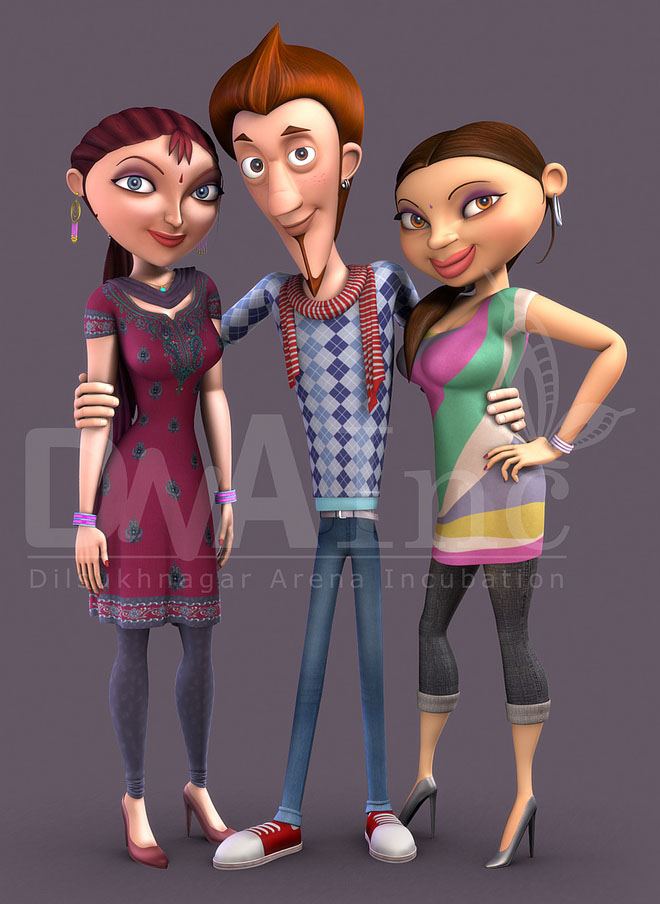 3D character by Dilsukhnagar Arena multimedia