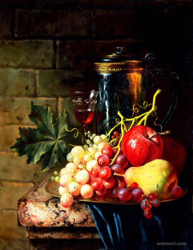 still life fruit painting