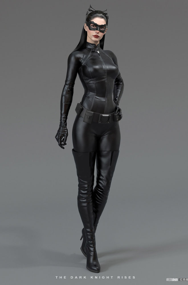 Catwoman Anne Hathaway 3D Game Art