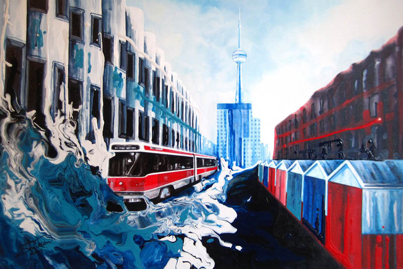 unusual paintings amy shackleton brush less urban landscapes