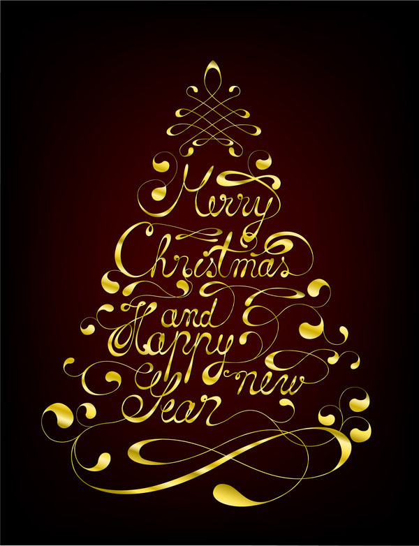 christmas typography merry christmas greeting card font text
