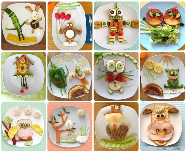 Vegetable carving for kids