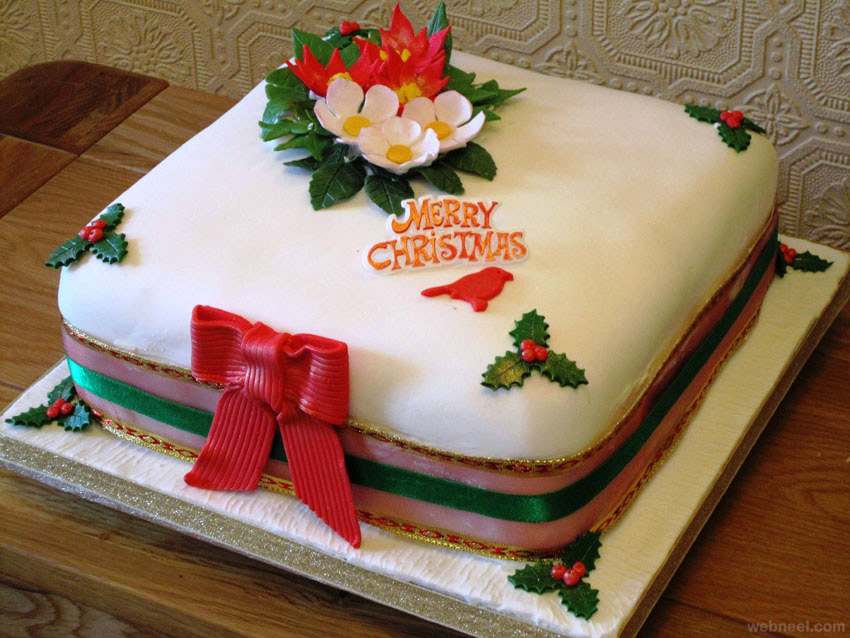 Christmas Cake Design 2018 : christmas cake idea 10 - Full Image