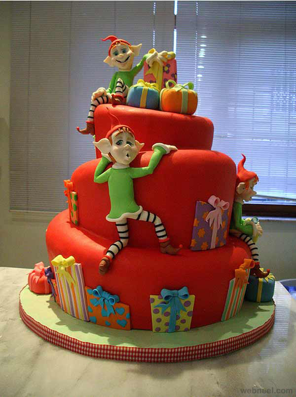 christmas cake decoration idea