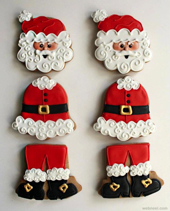 christmas santa cookie decorating ideas