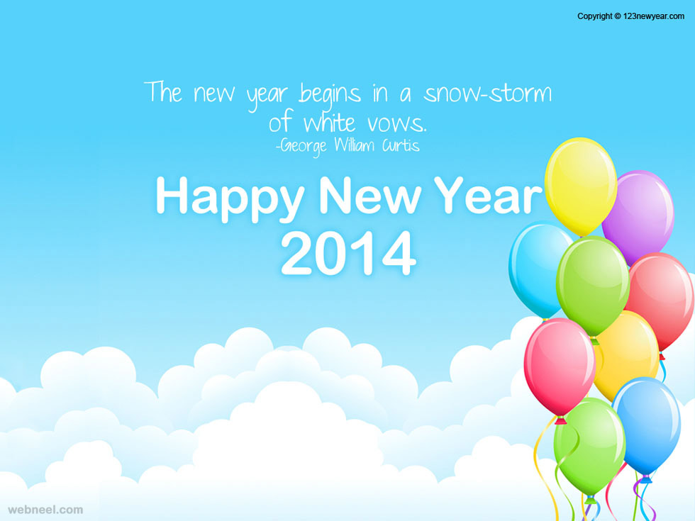 25 Beauiful 2014 New year Greeting card designs for your inspiration