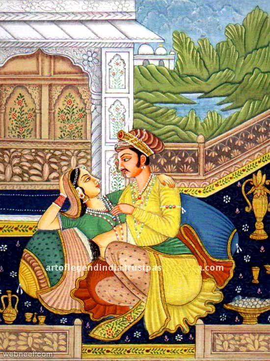mughal paintings love