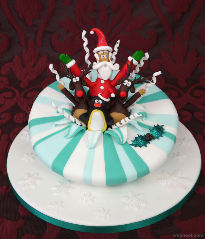 christmas cake decoration idea 18