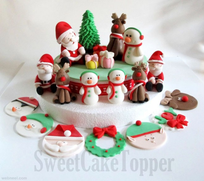 decorating christmas cake
