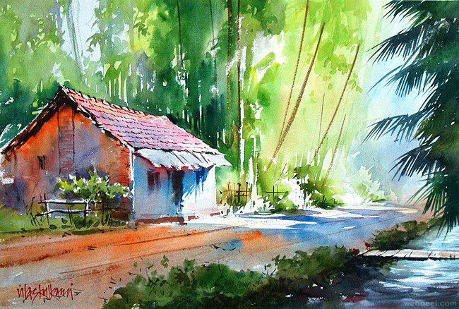 watercolor painting by vilas kulkarni