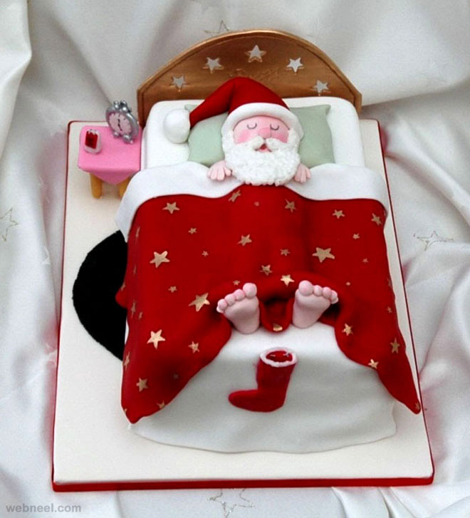 25 Creative Christmas Cake Decoration Ideas and design  ~ 073633_Cake Decoration Ideas Xmas