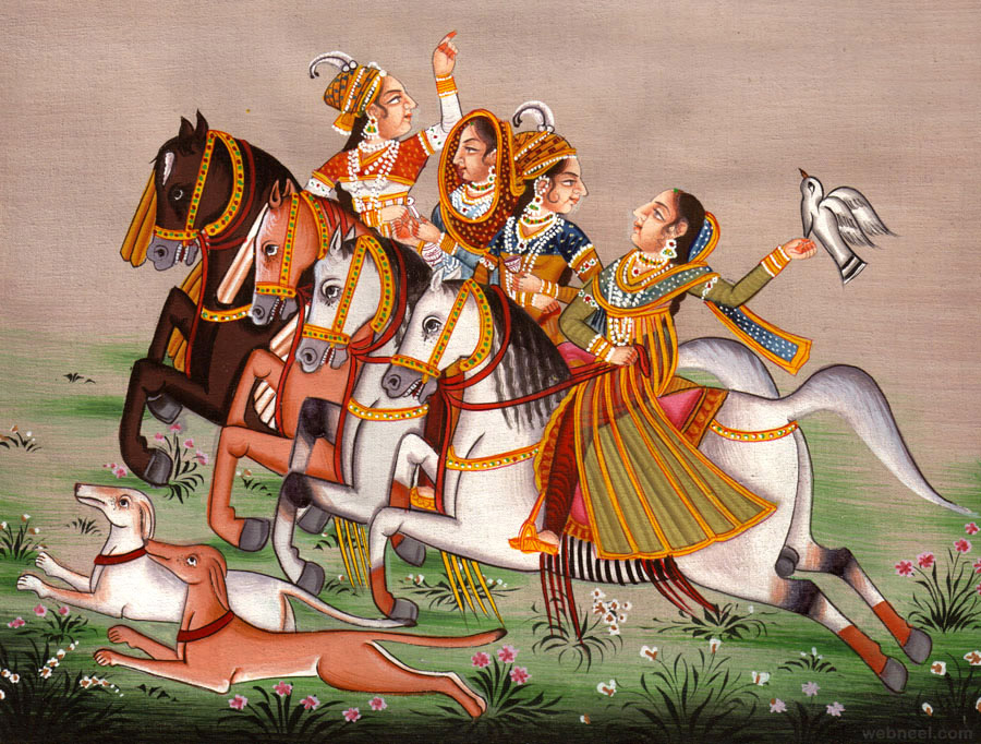 mughal painting horse