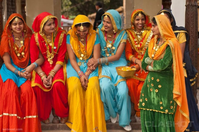 incredible india colorful women