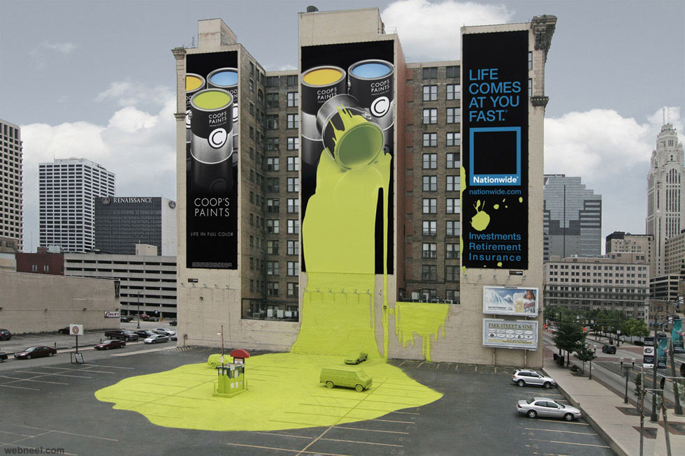 Lovely Outdoor Advertising Ideas Part - 7: Creative Outdoor Advertising Ideas