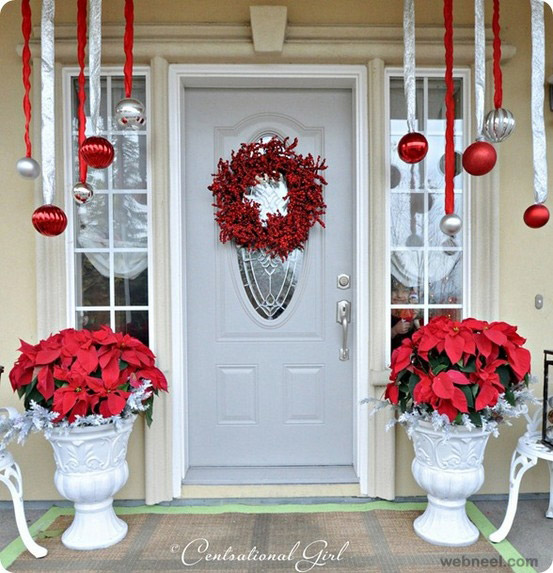 outside christmas door decorations images