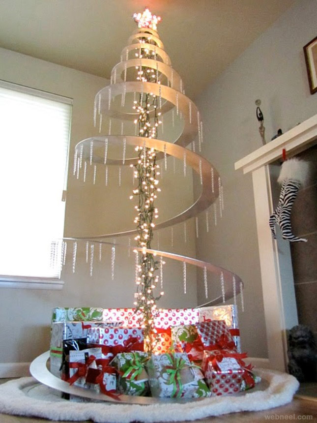 25 beautiful christmas tree diy ideas for your inspiration - Weihnachtsbaum metall ...