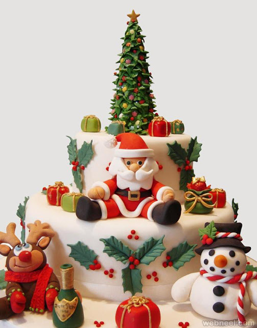 Christmas Cake Decorations Ideas Design Xmas 2015 Cupcakes Pictures