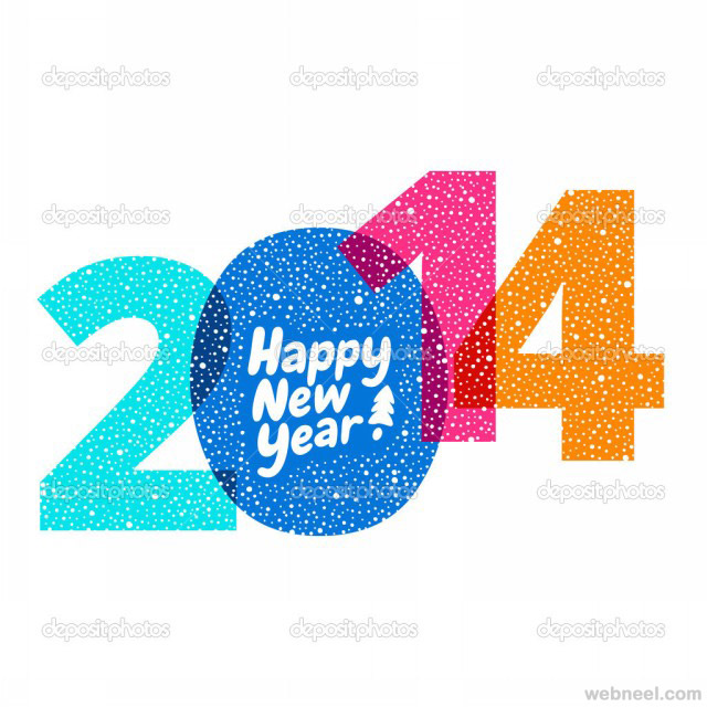 25 beauiful 2014 new year greeting card designs for your inspiration new year greeting card 2014 m4hsunfo