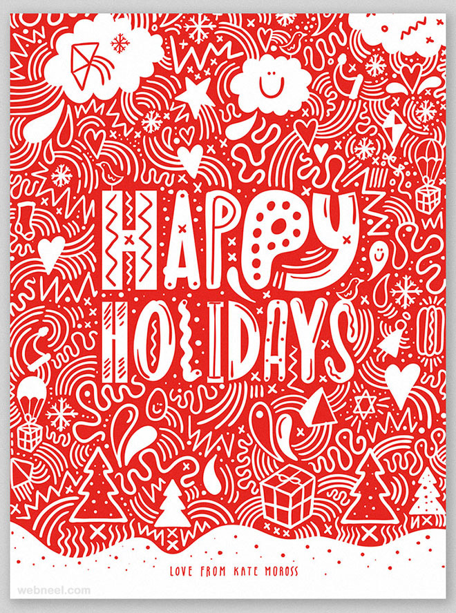 25 Beautiful Business Christmas Cards Designs for your inspiration