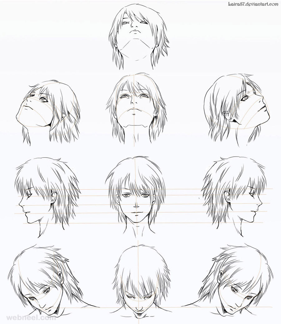 Anime Characters Drawing : How to draw anime tutorial with beautiful character
