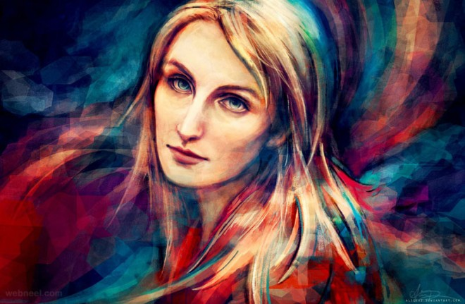 colorful digital painting