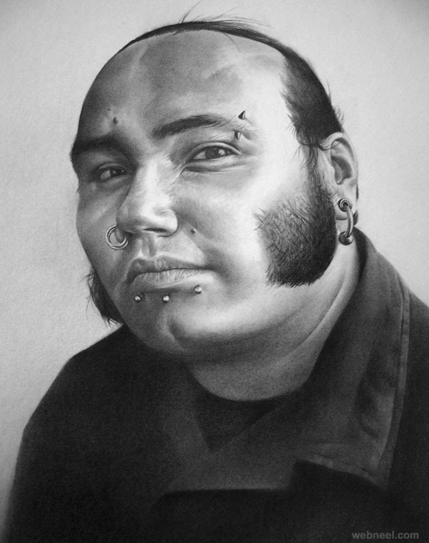 portrait drawing by sanchez