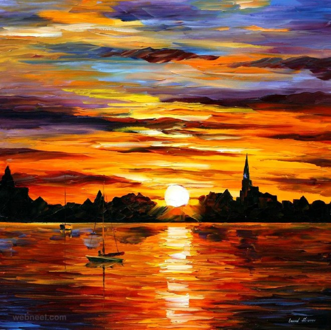 Best Sunset Drawings Sunset Paintings