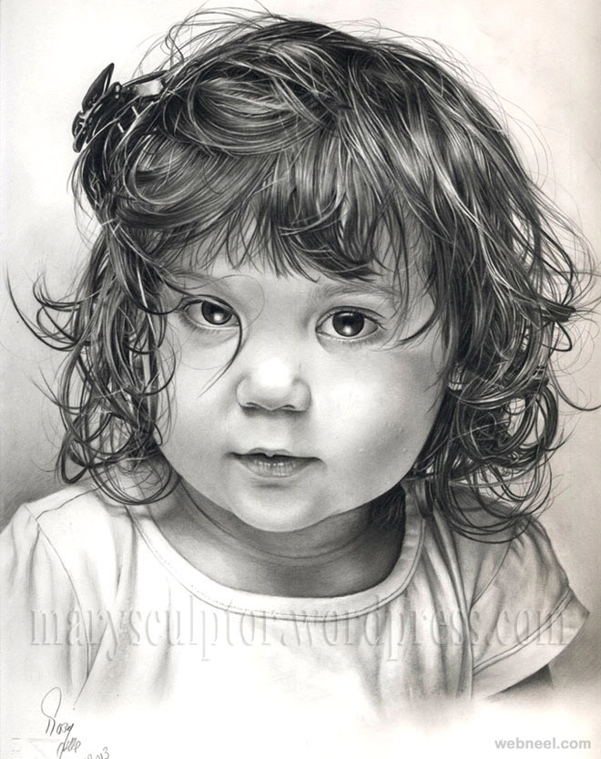 Girl portrait pencil drawings girl portrait pencil drawing