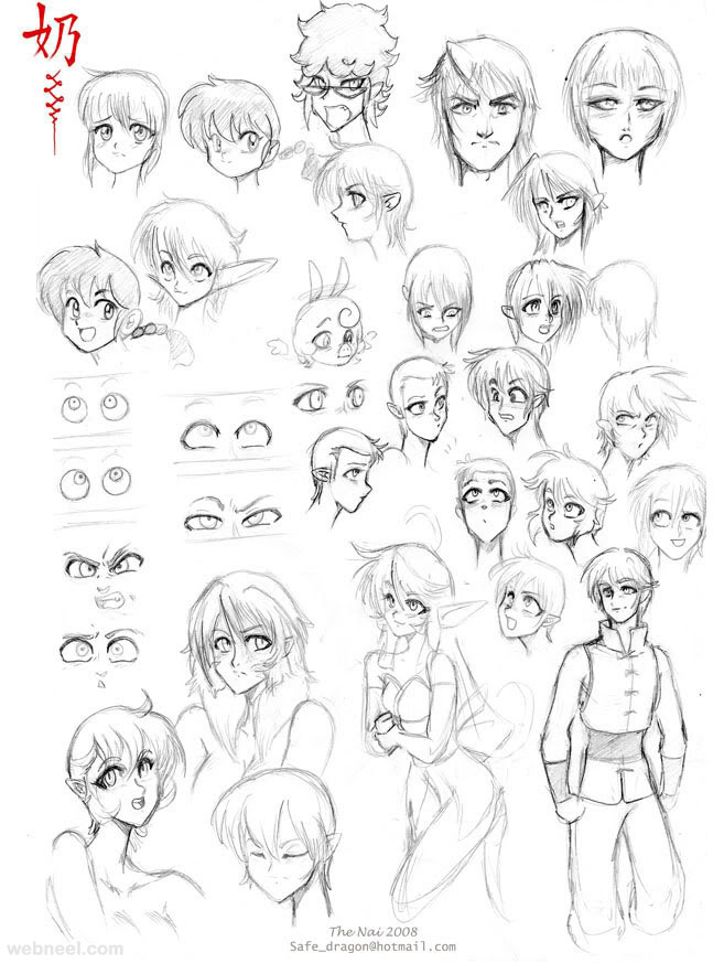 Anime Character Design Styles : How to draw anime tutorial with beautiful character