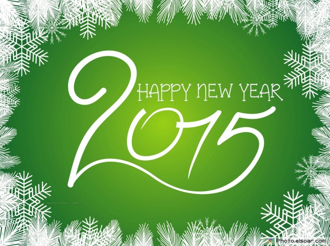 new year greeting card design 2015
