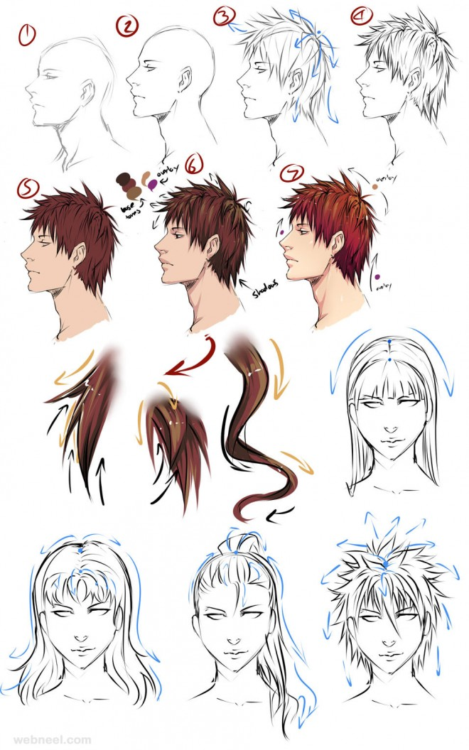 Admirable Anime Hairstyles Female Tutorial Best Hairstyles 2017 Short Hairstyles Gunalazisus