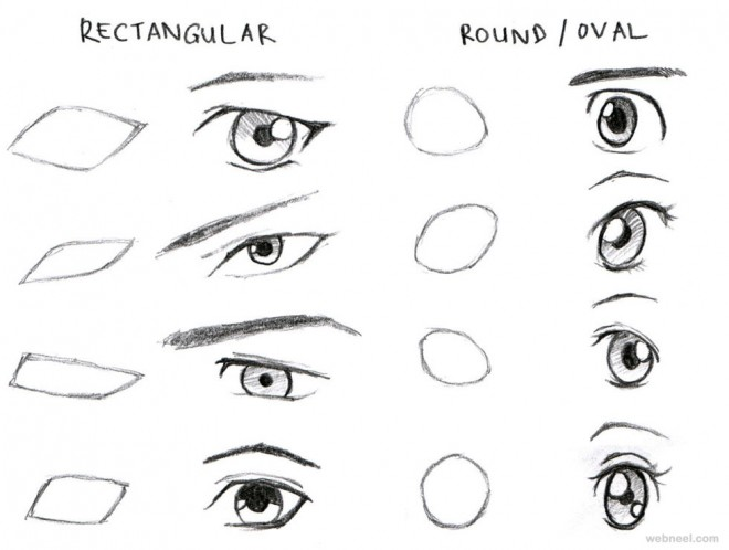 Anime drawings eyes