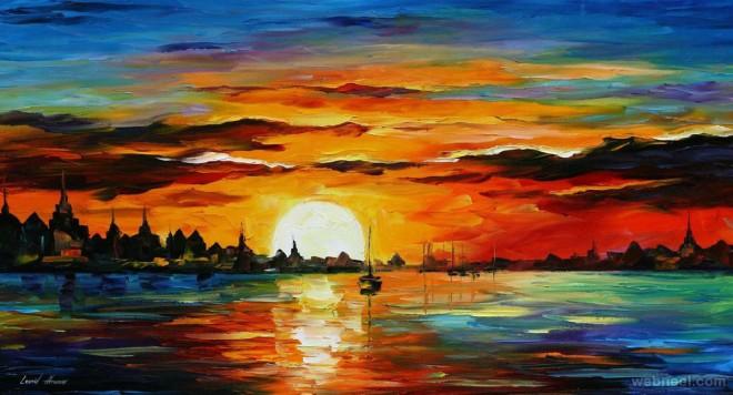 sunrise painting leonid afremov