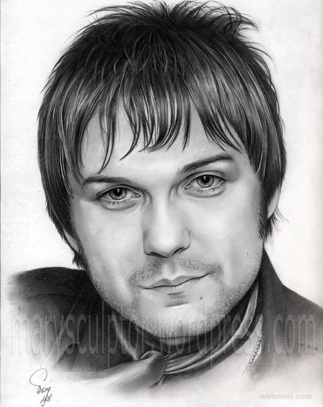 portrait drawing tom meighan