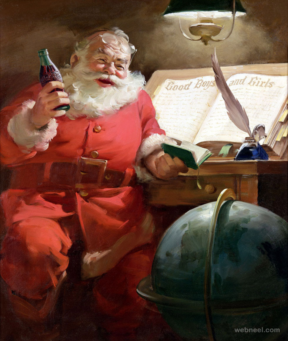 funny santa claus pictures coke