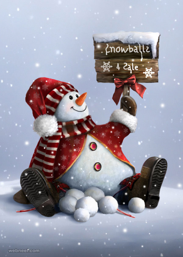 snowman pictures digital art