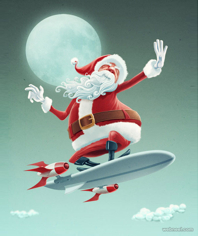 funny santa claus vector pictures
